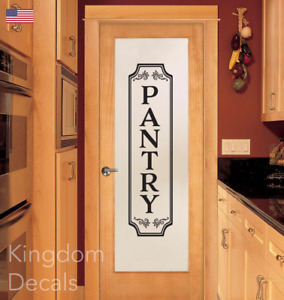 Pantry Vinyl Wall Decal Glass Door Kitchen Decor Vinyl Lettering Frame Dinning