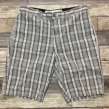 Vans Off The Wall Plaid Shorts Men's 32 (Inseam 10) Gray 100% Cotton (C3)