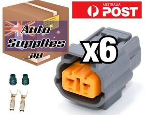 Coil Plug Connector Set of 6 for Ford Falcon FG Ignition 6 Cylinder 2 Pin Mazda