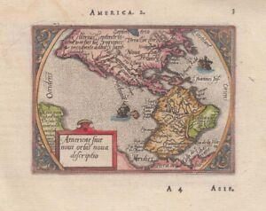 1579 Very Early Ortelius/Heyns Map of America