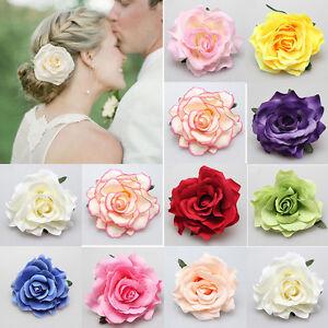 Rose Flower Hairpin Brooch Wedding Bridesmaid Party Accessories Hair Clip FJ