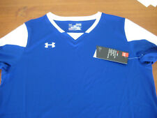 Under Armour womens Maquina soccer jersey short sleeve NEW royal XL