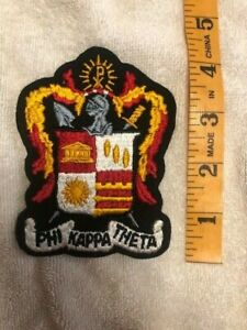"""Phi Kappa Theta  4.5"""" Embroidered Crest Patch New, - RARE - FREE SHIPPING"""