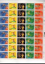 us scott #2553-57 29c xf mnhog sheet of (40) Summer Olympics 5 varieties 1991 co