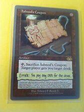 MTG Ashnod's Coupon w/sleeve Unglued edition Magic the Gathering card NICE L@@K