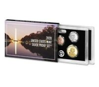 2020 U.S. MINT 10 COIN SILVER PROOF SET w/ .999 SILVER AB QUARTERS, IN STOCK