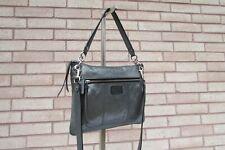 Coach 18807 poppy Hippie Metallic Silver Gunmetal Leather Crossbody Bag Shoulder