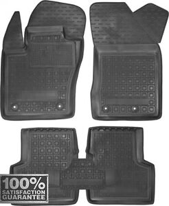 Rubber Carmats for Jeep Renegade 2015- All Weather Fully Tailored Floor Mats