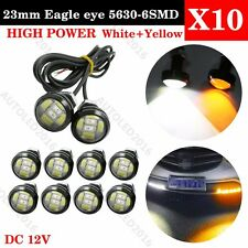 1Sets Switchback Dual Color White amber 5730 6SMD Eagle Eye Led Light Bulbs DRL