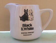 BLACK & WHITE BUCHANAN' S SCOTCH WHISKY VTG CERAMIC PITCHER / WATER JUG