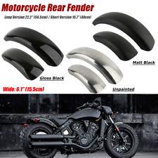 6.1'' Flat Motorcycle Rear Custom Steel Fender Black For Harley Bobber Chopper
