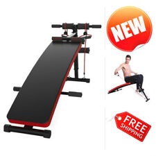 Adjustable Workout Sit Up Bench Home Gym Abs Exercise Crunch Fitness Board Black