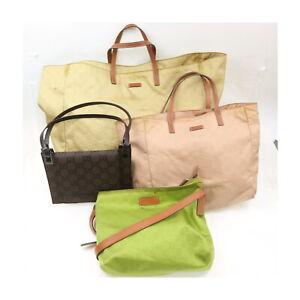 Gucci Nylon Shoulder/Hand Bag 4 pieces set 525396