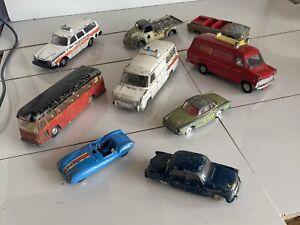 Dinky Toys Corgi Spot On Joblot Model Classic Car Van Police Fire Toy Bus Cars