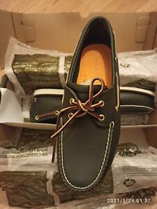Timberland - Classic 2 Eye Boat Shoes Navy Blue - 10UK