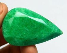 HUGE 52x32mm (199cts) PEAR-FACET CERTIFIED NATURAL (EGL) BRAZILIAN EMERALD GEM