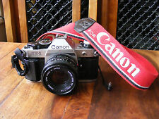 Canon AE-1 Program 35mm SLR Film Camera with FD 50mm 1:1.8 Lens & Data Back A