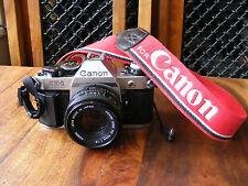 Canon AE-1 Program 35mm SLR Film Camera with FD 50mm 1:1.8 Lens & Data Back A