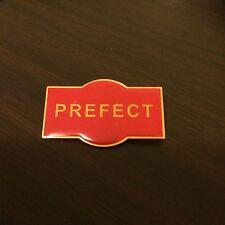 PREFECT Metal School Badge / Pin RED Enamel