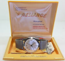 RARE NOS VINTAGE CROTON RELIANCE SWISS 17 JEWEL MEN'S WATCH, WORKS , NEW IN BOX