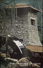 Napanoch NY Old Water Wheel Yama Farms Inn c1910 Postcard