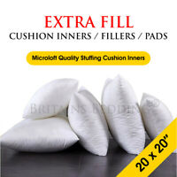 Pack of 6 Extra Deep Filed 20 x 20 Inches Cushion Pads Inserts Fillers Scatters