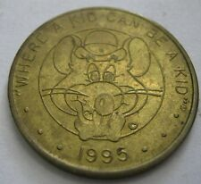1995 Chuck E Cheese Token TC 343684 WHERE A KID CAN BE A KID Medal, Letters Near