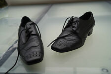 schicke GEOX Damen Schuhe Schnürschuhe Business Gr.37 schwarz Leder TOP #39
