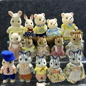 Lot Sylvanian Families Bear Squirrel Hamster Grey Cat Family Calico Critters Toy