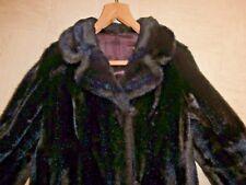 Vintage 1960's 1970's Tissavel SIMULATED FUR Mink Brown FUR COAT~Medium