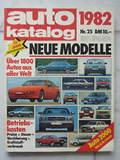 Auto Katalog 1982 Ausgabe Nr.25, Über 1800 Autos aus aller Welt