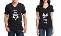 Christmas #2 Funny Couple T-Shirts Jingle My Bells & Feel The Joy Disney Mickey