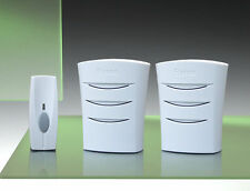 Byron Simple 50m Portable Sans fil Sonnette de porte Kit, Modèle BY101WT