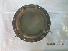 "Vintage Bronze Porthole 10"" Flush Mount **Chris Craft, Elco, Wooden Boat**"