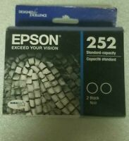New sealed box Epson 252 Standard Capacity TWO-pack Ink Cartridges FREE SHIPPING