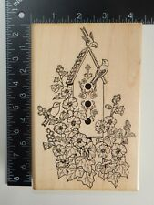 Embossing Arts Summertime Birdhouse Rubber Stamp 425S