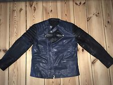 Original ASOS Lederjacke Jacke  Gr. L blau schwarz