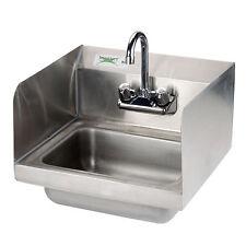 "17"" x 15"" Hand Wash Sink Commercial Restaurant Sidesplash Stainless Steel NSF"
