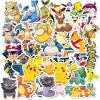 100 Pokemon Vinyl Stickers Japan Anime Pikachu Cartoon PC Phone Graffiti Decals