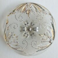 Bouton ancien - Verre - Lacy Glass - 28 mm - XIXe / XXe - Lacy Glass Button