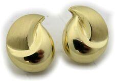 Pendientes Mujer Clip Oro Real 333 8 Quilates Amarillo Gotas 17mm
