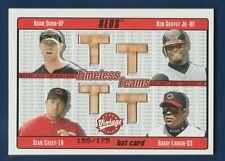 DUNN/ GRIFFEY JR/ CASEY/ LARKIN 2003 UD VINTAGE TIMELESS TEAMS BAT QUADS  33392