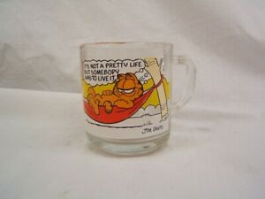 "Glass Garfield Characters Mug c 1978 McDonald's 3 1/2"" Height VGC"