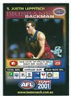 2001 Teamcoach Prize Card (5) Justin LEPPITSCH Brisbane