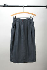 Vintage Jones New York High Waist 100% Linen Skirt Gray - Petite 4 / 80's 90's