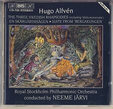 Hugo Alfven - Neeme Jarvi: 3 Swedish Rhapsodies, En Skargardssagen BIS Like New