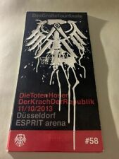 Die Toten Hosen  Der Krach der Republik - 11.10.2013 Esprit Arena -Neu m. Abriß