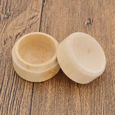 Round Wooden Wedding Ring Jewelry Trinket Box Wood Storage Container Case Mini