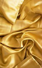 "100% mulberry silk charmeuse King Duvet Blanket cover 105x93"" in Gold 19 momme"