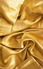 "100% mulberry silk charmeuse King Duvet Blanket cover 105x93"" in Gold 19 momme"